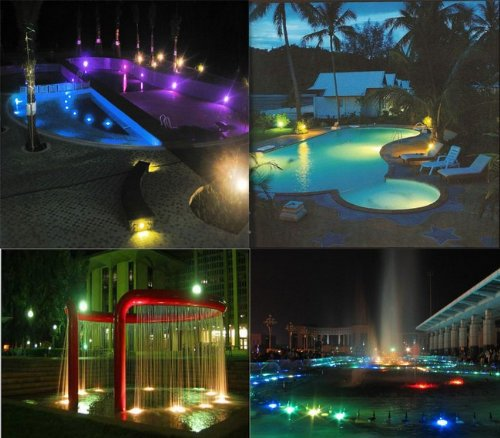 Underwater Led Floodlight 6W AC 4PC in One Set Waterproof Colorful 36 LED Submersible Light RGB