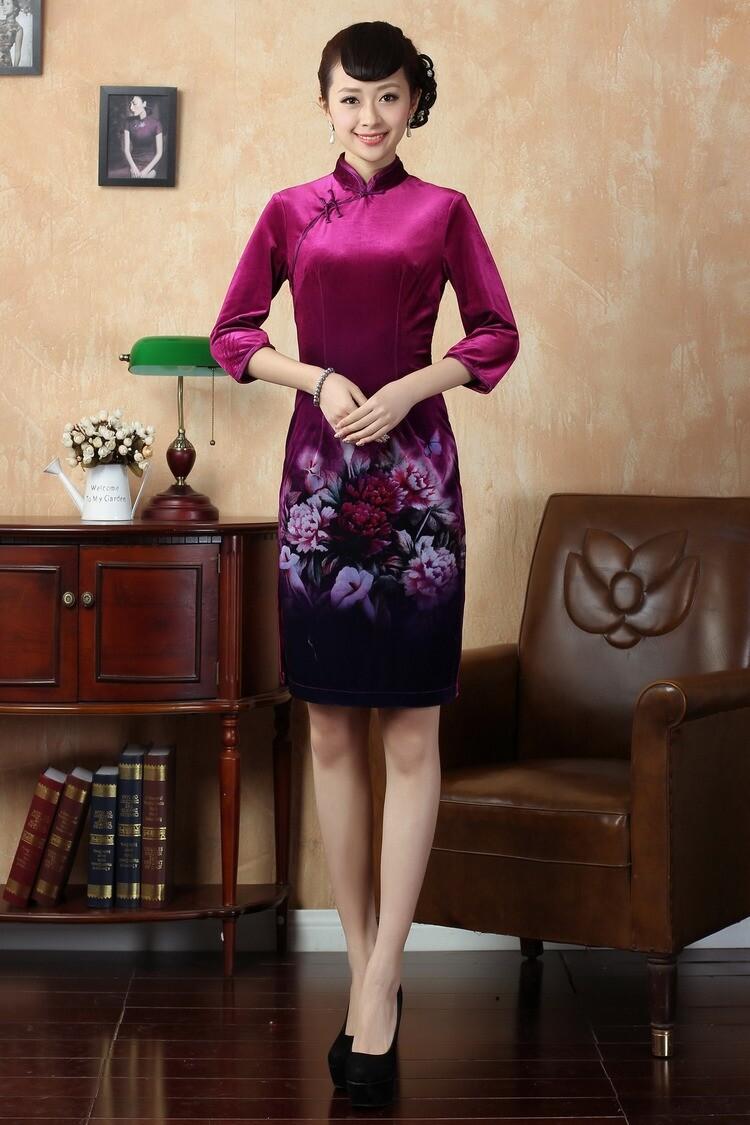 Новая мода черный женщин шелковый бархат
