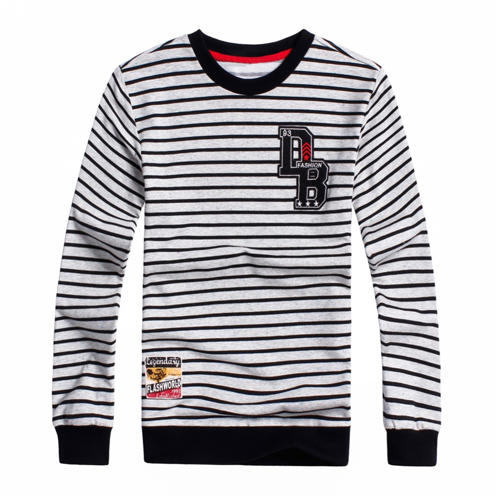 Spring Autumn Toddler Boys Striped Long Sleeve T Shirts