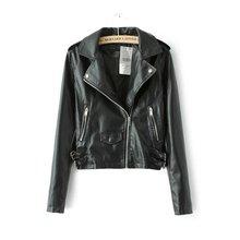 Women faux leather jacket black Biker Jackets Aviator coat new 2016 Short motorcycel Coats Female S-XL Jaqueta couro drop ship(China (Mainland))