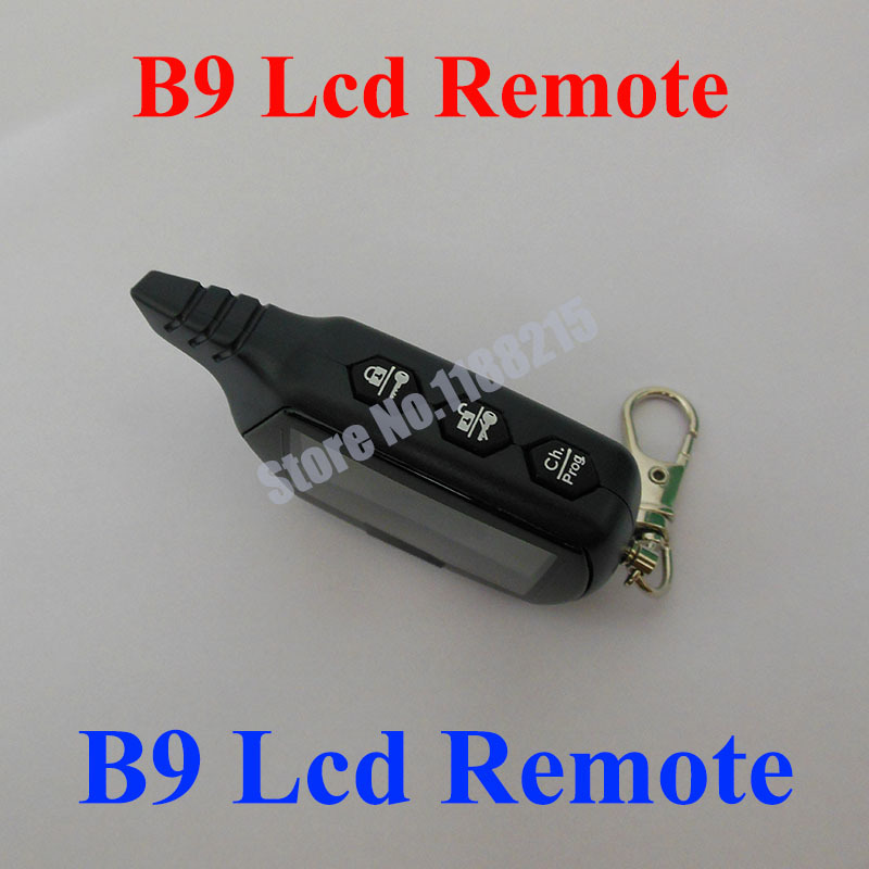 Russian version B9 LCD Remote for B9 two way car remote controller free shipping(China (Mainland))