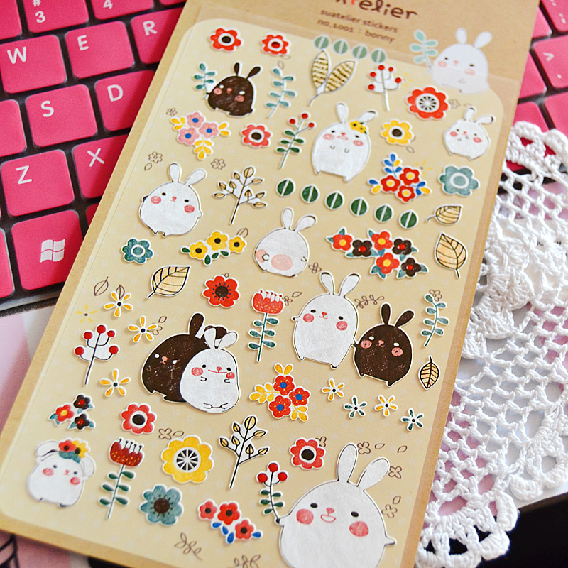 Min Order Is 5 DIY Scrapbooking Paper 3D Rabbit Diary Photo Album Stickers Wedding Decoration