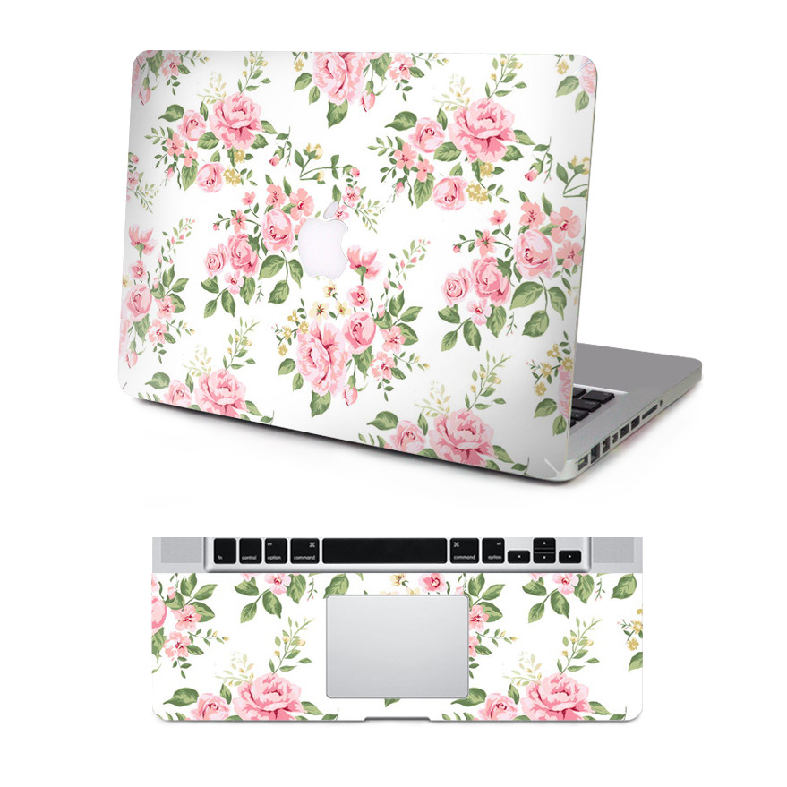 20 Patterns: Elegant Floral Full Body Vinyl Decal Laptop Sunset Print Skin Sticker Cover For Macbook Air Pro Retina New Mac12