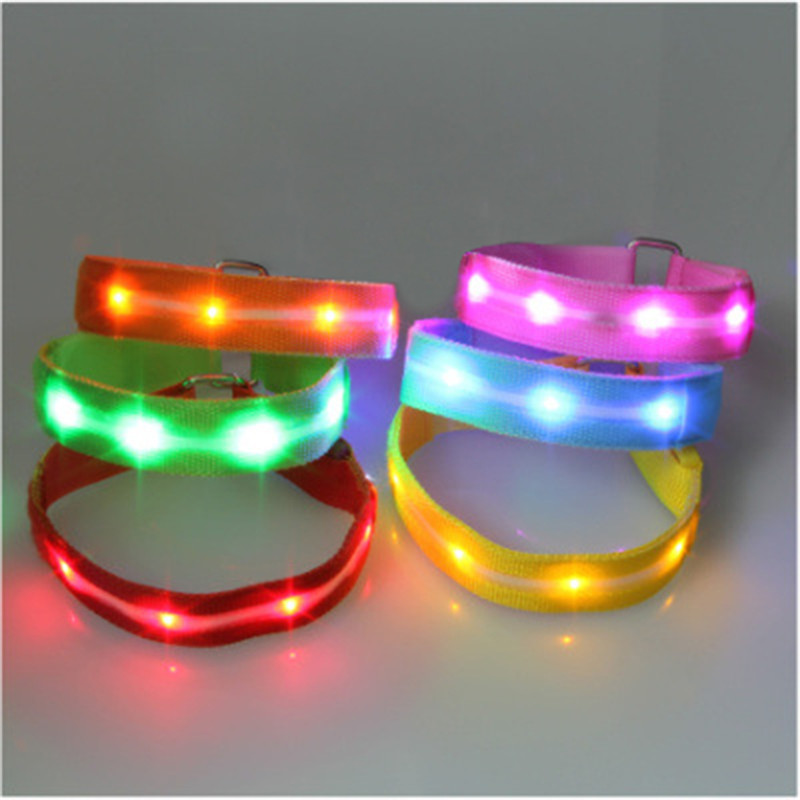 Hot Sale Color LED light wristband/ luminous bracelets/ nocturnal band running security arm band fluorescence(China (Mainland))