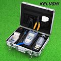 KELUSHI FTTH Fiber Optic Tool Kit FC 6S Fiber Cleaver Fibra Optica Power Meter 1mW Visual