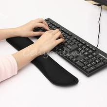 Ergonomically Design Black Soft Gel Wrist Raised Hands Rest Support Pad Cushion For PC Keyboard Office Work Decoration(China (Mainland))
