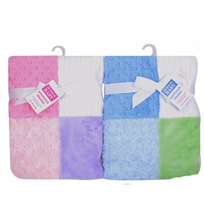 Luvable Friends Super Soft Fleece Baby Blanket Newborn Multi-Fabric12 Panels Manta Infant Baby Product  Baby Bedding Winter (2)