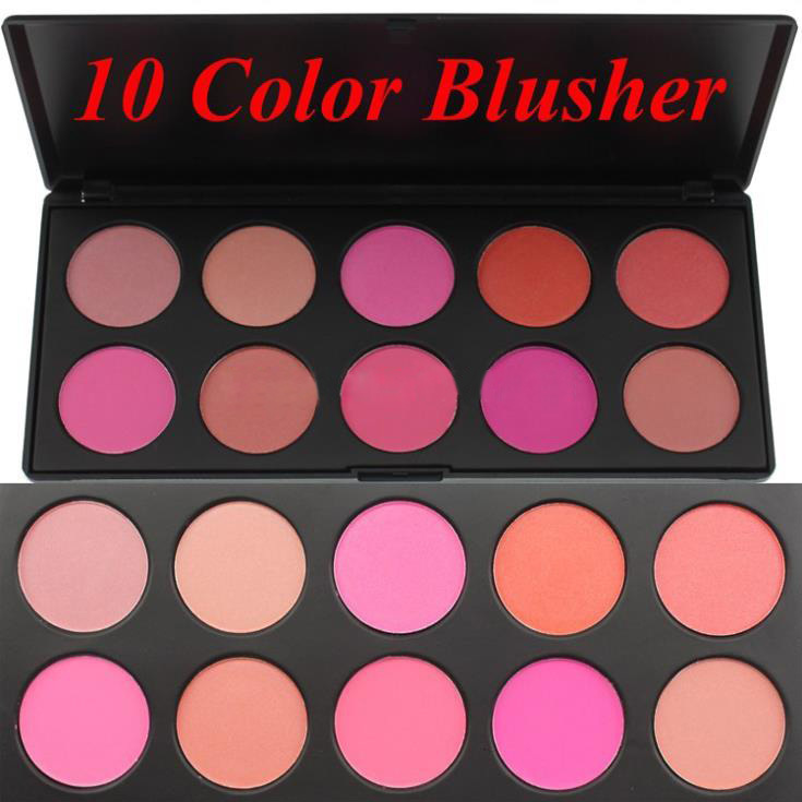 1Pcs Hot 10 Color Makeup Blush Face Blusher Powder Palette Cosmetics Professional Makeup Product(China (Mainland))