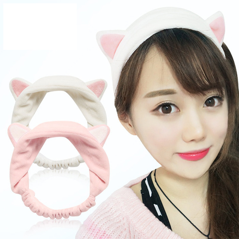 2017 Hot Sale PC Cute Womens Lady Girl Elastic Grail Cat Ears Headdress Hair Braiders Accessories Party Gift Makeup Tolls(China (Mainland))