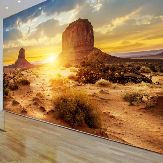 Photo bell picture more detailed picture about desert for Desert mural wallpaper
