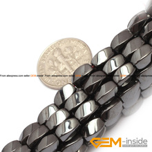 Buy Hematite:Twist Rectangle Magnetic Black Hematite Beads Natural Stone Beads DIY Beads Jewelry Making Strand 15 Inches ! Store) for $3.86 in AliExpress store