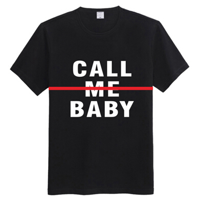 KPOP 2015 New EXODUS EXO CALL ME BABY Short-Sleeve T-Shirt Black And White size S M L XL(China (Mainland))