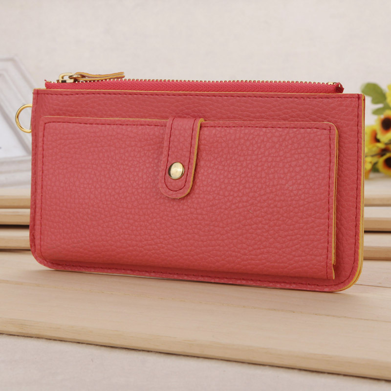 The new Korean version PU Wallet Clutch bag Korean female models, Ms. Long Wallet wholesale(China (Mainland))