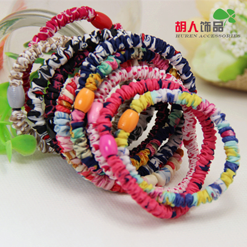 Floral article does not hurt the hand high elastic hair ring thin section barbarian Recommended Korean jewelry hair accessories(China (Mainland))