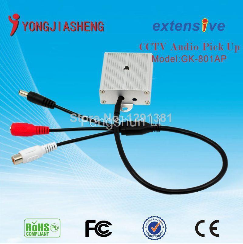 Audio surveillance CCTV Microphone Audio Pickup Device 100m2 Range CCTV sound monitorYJS(China (Mainland))