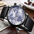 2016 TOP BRAND MEN QUARTZ WATCH MULTI FUNCTION WITH GENUINE LEATHER BAND MENS DRESS WATCHES MEN