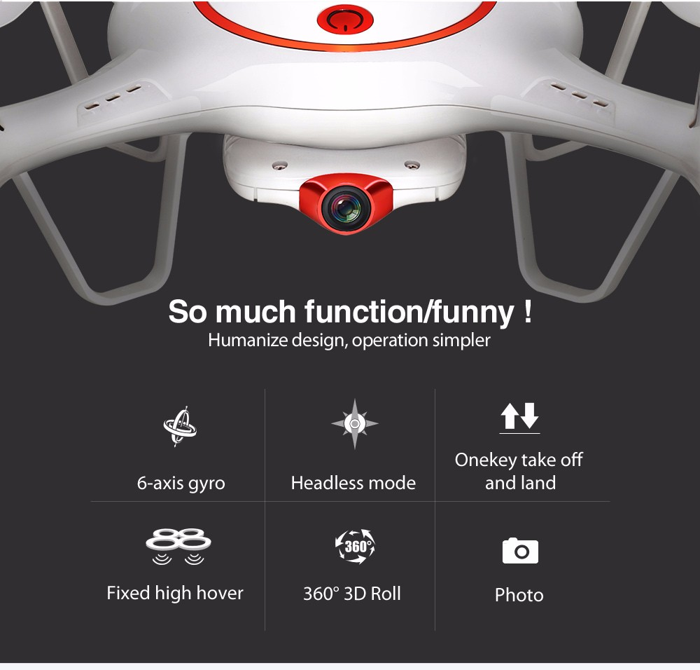 Syma X5UC (X5C Upgraded) RC Quadcopter 2.4G 4CH Hover Function Headless Mode 2.0MP HD Camera Drone New Version