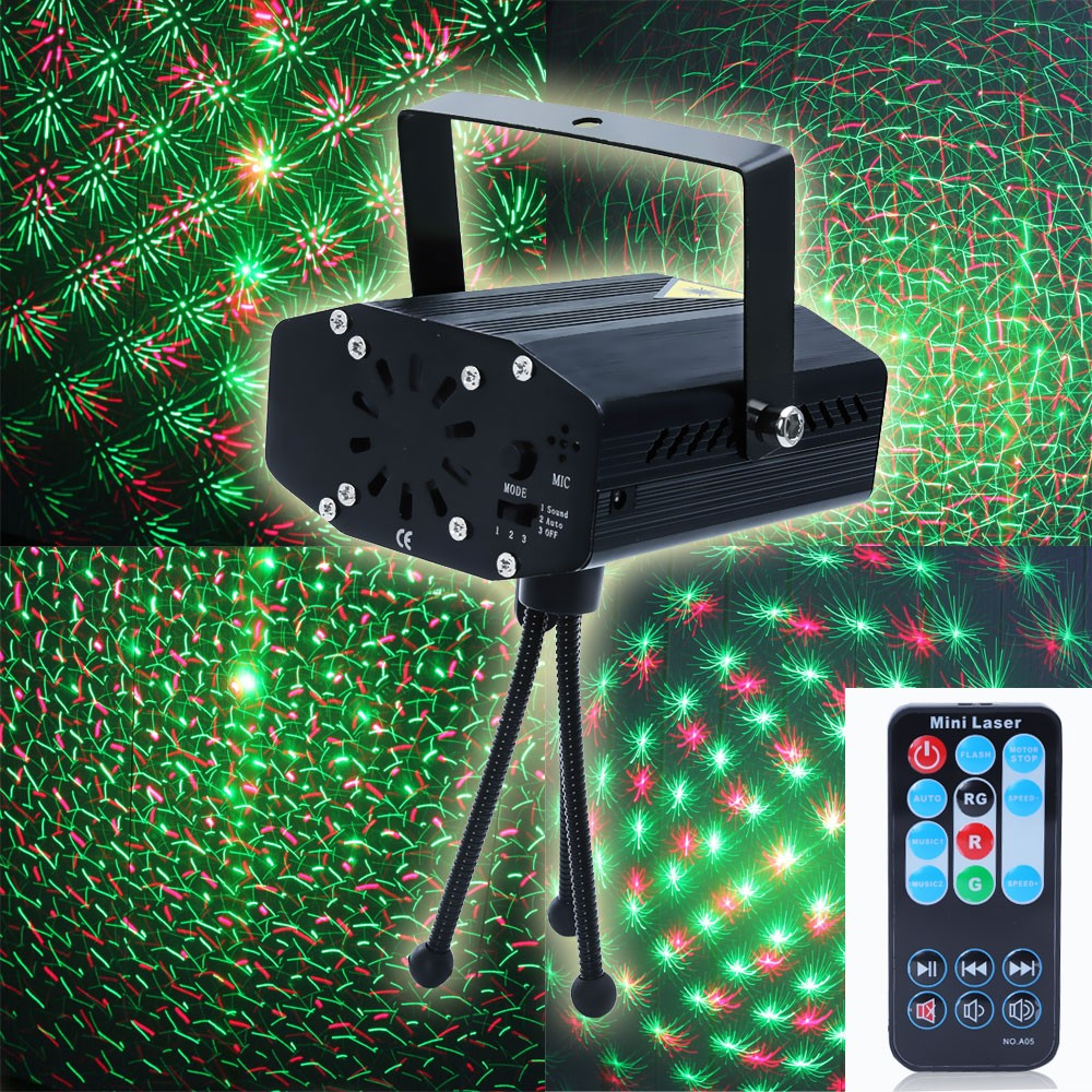 LemonBest Portable multi LED bulb Mini Laser Projector DJ Disco Stage Light Xmas Party Lighting Show With Remote Control(China (Mainland))