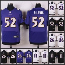 100% Elite men Baltimore Ravens 52 Ray Lewis 26 Matt Elam 11 Kamar Aiken 5 Joe Flacco A-1(China (Mainland))