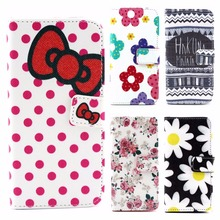 Flower bows Style For Apple iPhone 6S 4.7″ Wallet Flip PU Leather Case with Card Holder For iphone6S Smart Stand Skin Bag Cover