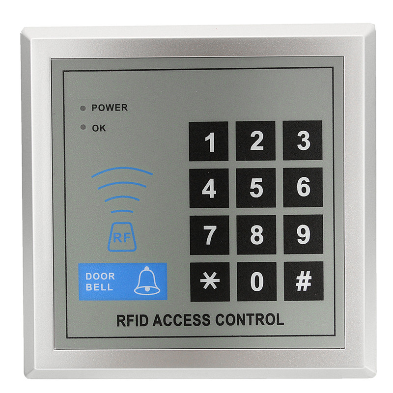 Durable Quality Plastic Security Electronic RFID Proximity Entry Door Lock Access Control System 11.5X11.5X2.5cm Free Shipping(China (Mainland))