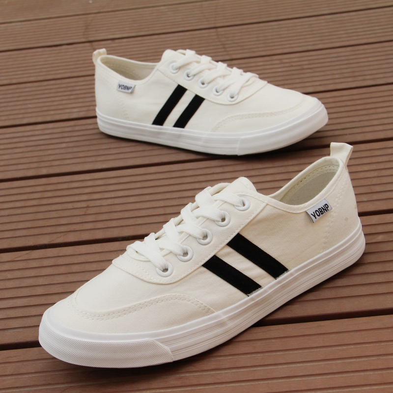 white black casual shoes summer canvas shoes