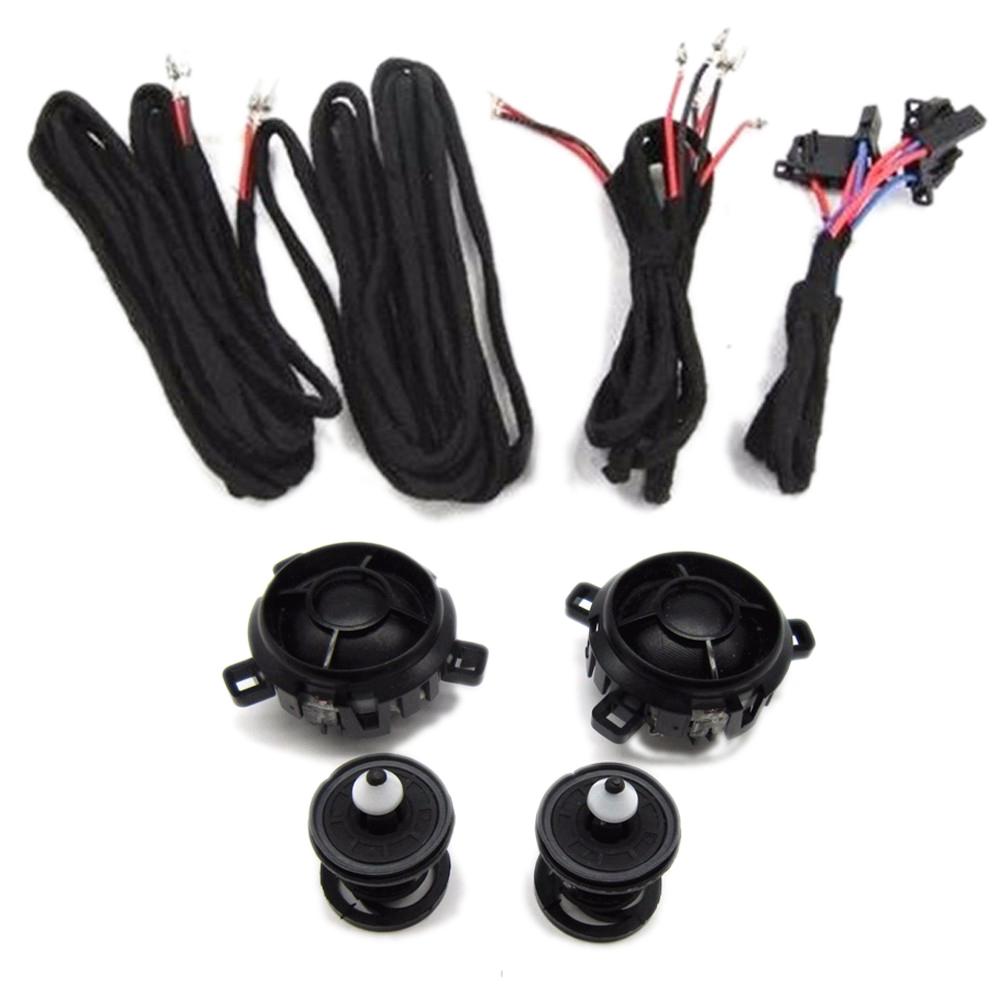 OEM Air Corne Haut-parleurs car speaker tweeter+checkpost+Cable Pour VW Golf Jetta Rabbitt Scorocco 5KD 035 411 A