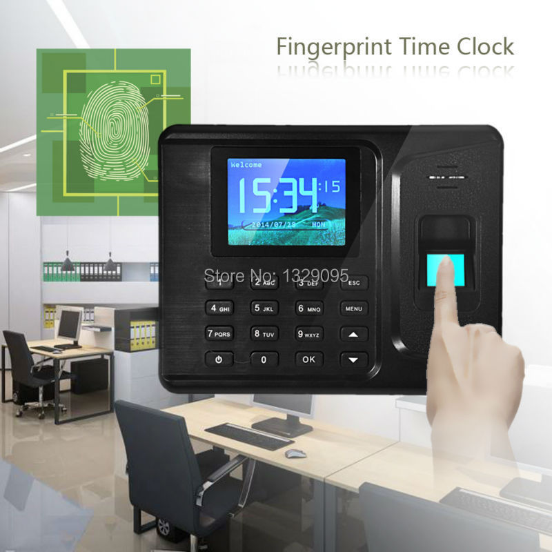 Free shipping High quality 2.8Inches TFT Screen Biometric Fingerprint Attendance Time Clock withTCP/IP FC(China (Mainland))