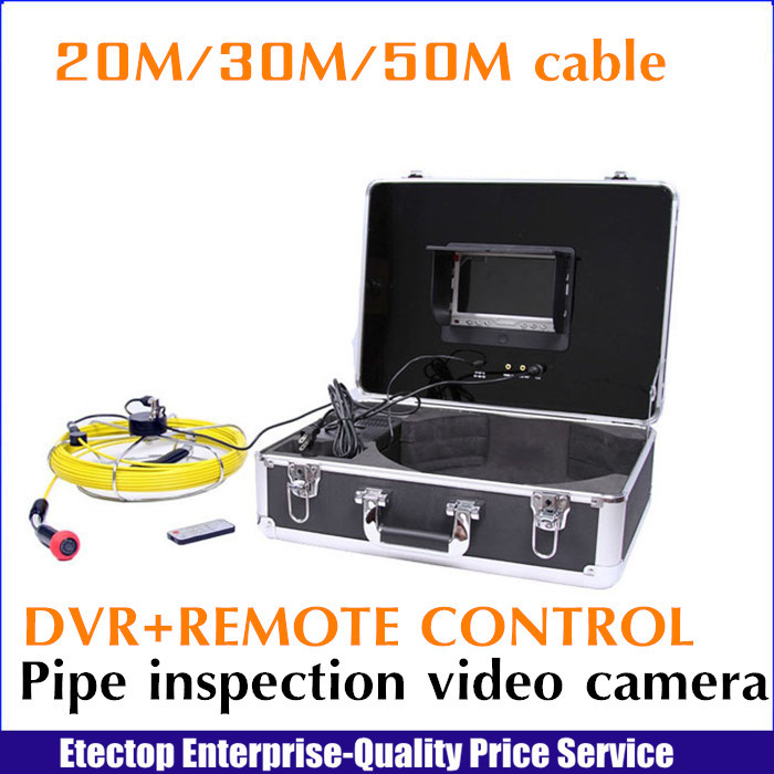 30m cable+DVR endoscope borescope underwater pipe drain sewer video inspection camera system,remote control,(China (Mainland))