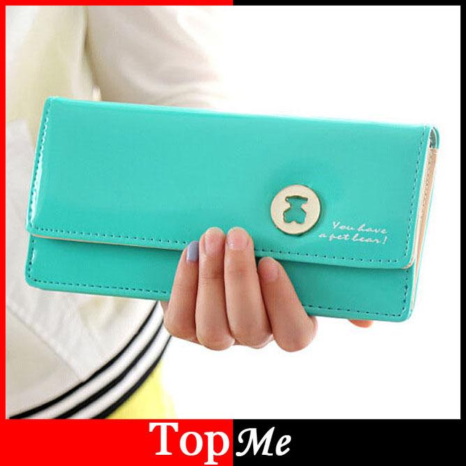 Pop Women Wallets Bags 8 Colors PU Leather Fashion Lady Handbags Woman Long Clutch Purse Cards Holder Wallet Burse Bag Wholesale(China (Mainland))