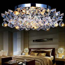 Free shipping large modern design crystal chandelier for ceiling lustre crystal decoration indoor lighting Dia52*H20cm(China (Mainland))