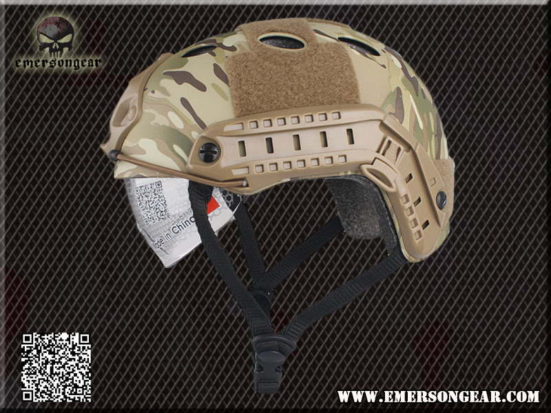 Emerson FAST Helmet with Protective Goggle PJ Type helmet Military airsoft helmet Multicam EM8819F(China (Mainland))