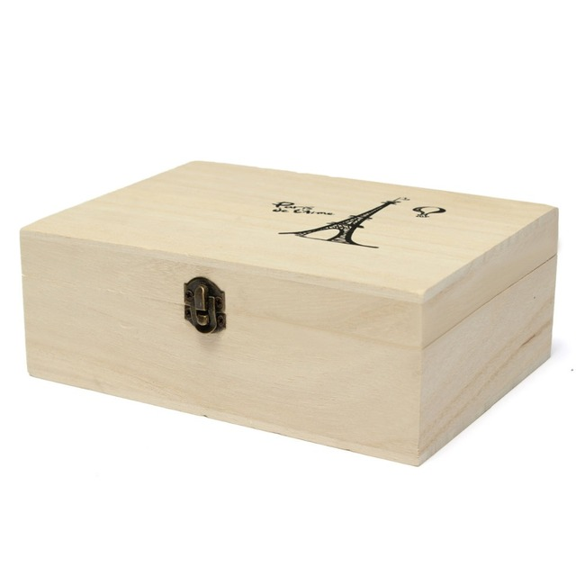 Buy home storage box natural wooden with for Craft storage boxes with lids