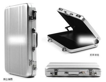 Free shipping Password Aluminium Credit Card Holder Mini Business Card Case 07037