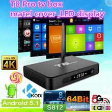 T8 PRO Android 5.1 TV Box KODI 16.0 2G/8G Amlogic S812 Set-Top Box With Dual-band 2.4G/5G WiFi Bluetooth 4.0 Smart TV Receiver(China (Mainland))