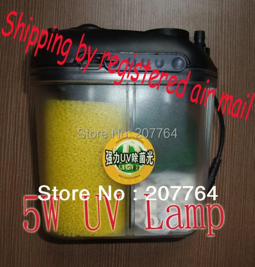 BOYU Mini Aquarium Fish Tank 5W UV External Powerful Filter Canister 220V-240V 40GPH 150L/H(China (Mainland))