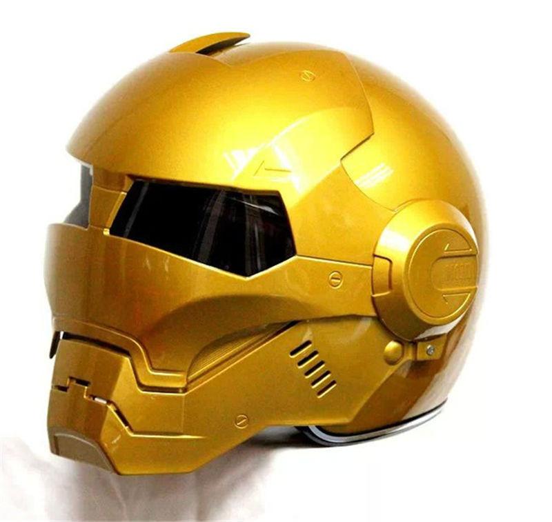 NEW Hot 2015 Gold MASEI IRONMAN Iron Man helmet motorcycle helmet half helmet open face helmet ABS casque motocross 610(China (Mainland))
