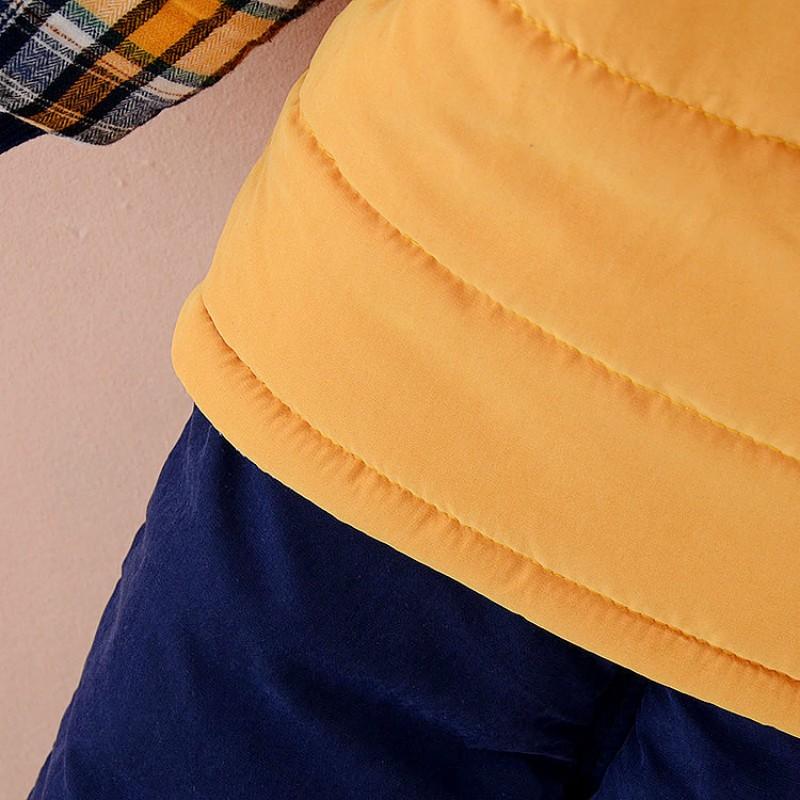 Скидки на Толстые Мальчики Зимняя Одежда детская Костюм Комплект Теплая Вниз куртка и Брюки С Длинным Рукавом Пальто Дети Одежда Мода Набор одеть