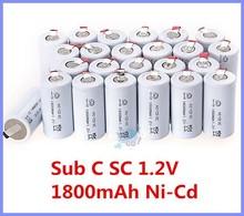 24 шт. суб C SC 1,2 V 1800 mAh Ni — компакт-диск кадмиевый перезаряжаемый аккумулятор аккумулятор — белый