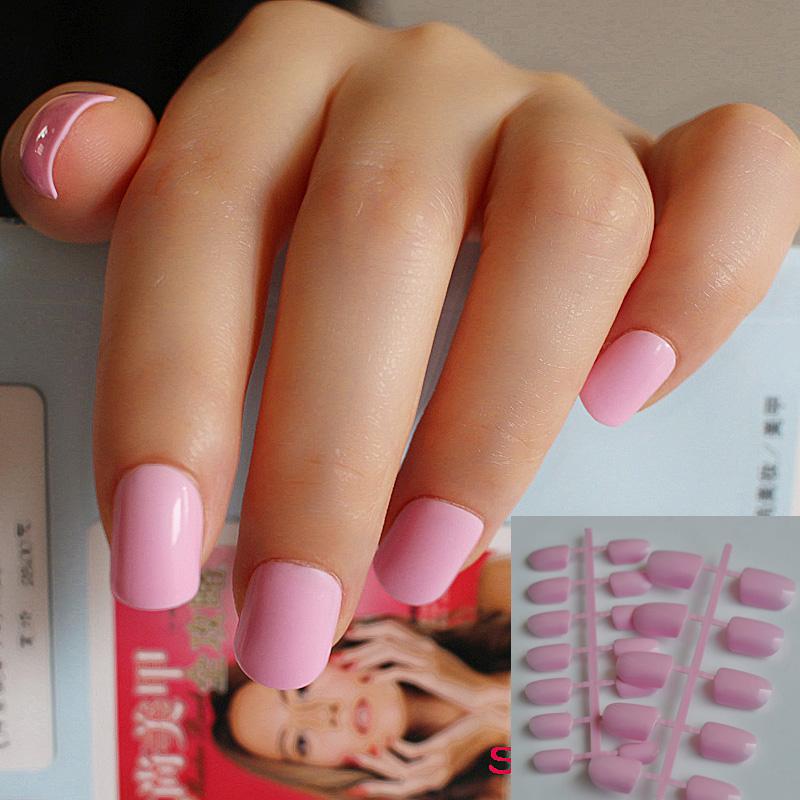 Накладные ногти розовые