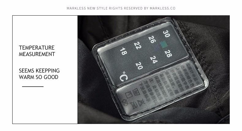 Скидки на Markless Мужчин Долгие Зимние Пальто Бренд Одежды Случайные Капюшоном Хлопка Куртки Теплые Пиджаки