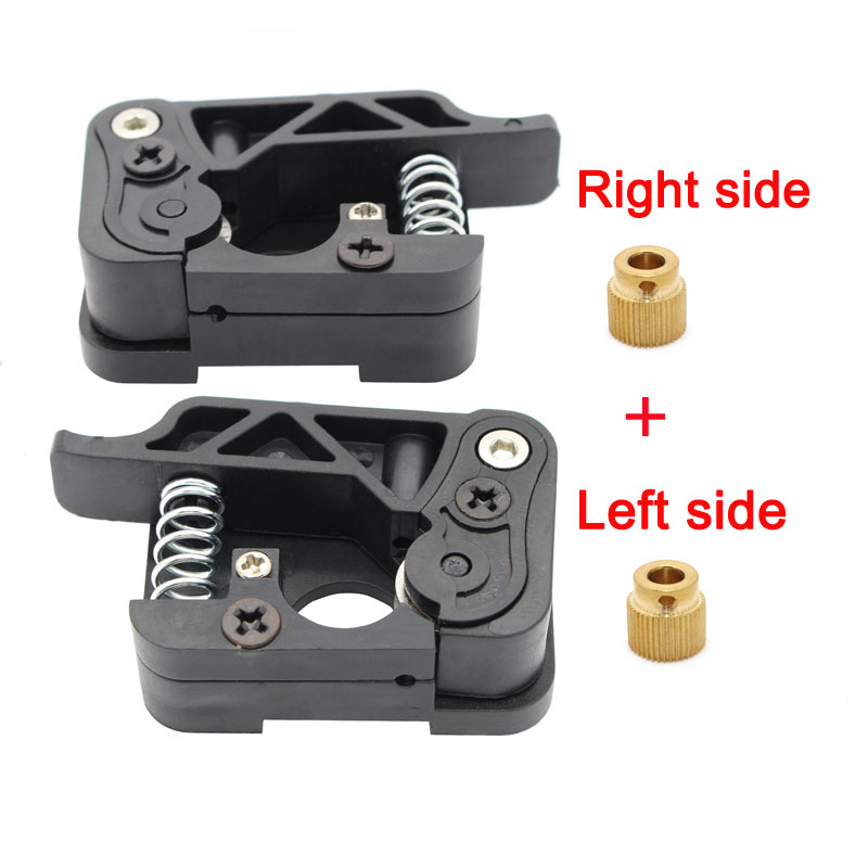 1 set 3D printer MK8 MK9 extruder 1 75mm wire feed device kits right and left