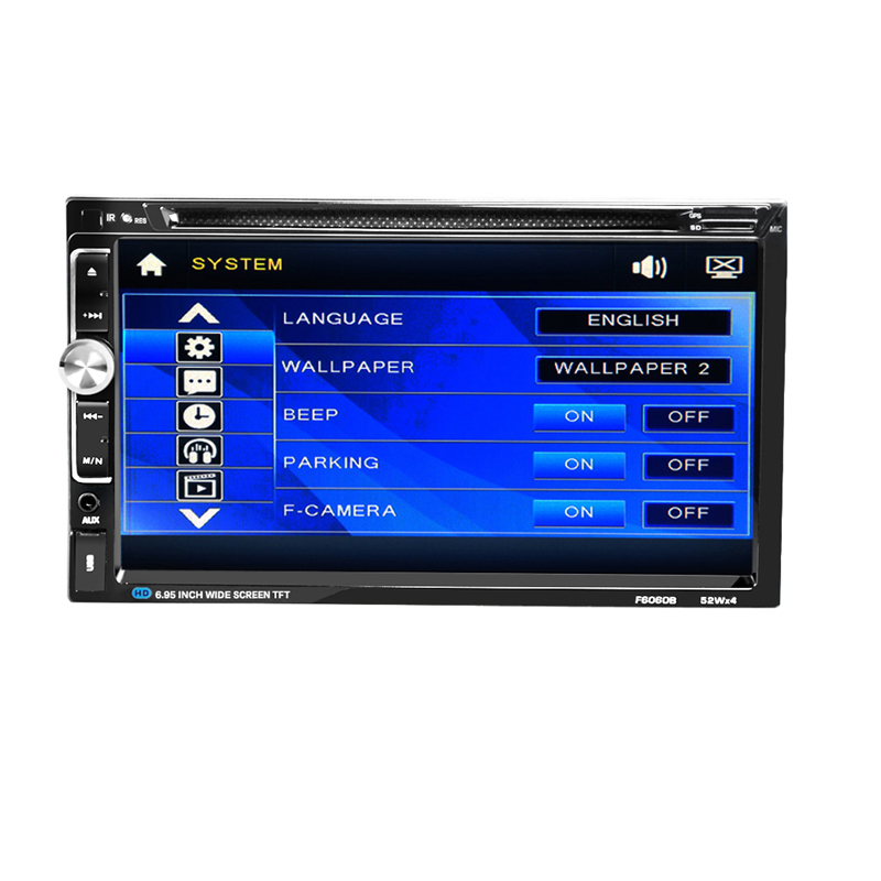 7.0 inch Car Electronic auto Double 2 din Car DVD player SD /USB Mp4 Player Touch Screen for universal Blutooth Free Shipping(China (Mainland))