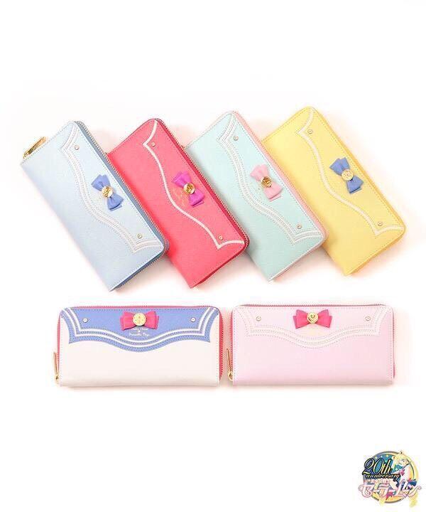 2015 new Japanese style girl women kawaii Limited Edition Sailor Moon 20th anniversary leather zipper long bag purse wallet(China (Mainland))