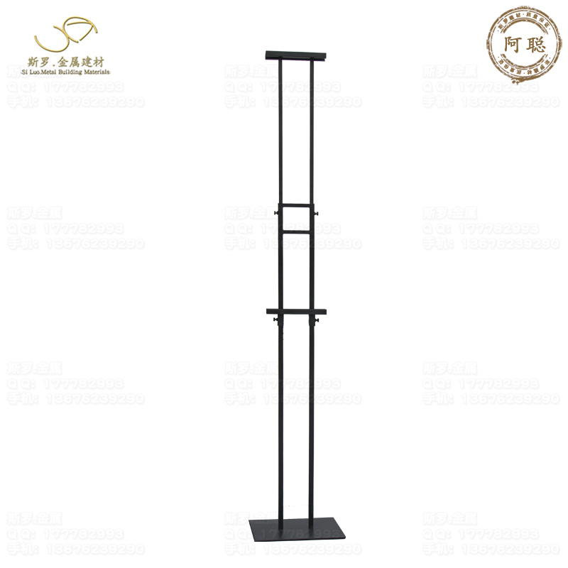 Powder Coated Black Poster Stand Adjustable height Billboard Display Stand shopping mall Double-sided Advertising Stand(China (Mainland))