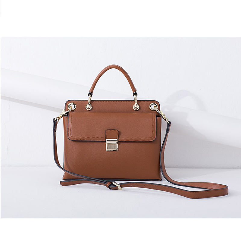 MORESHINE women bag Genuine leather handbags ladies lock design long shoulder briefcase bag Female real leather crossbody bag(China (Mainland))