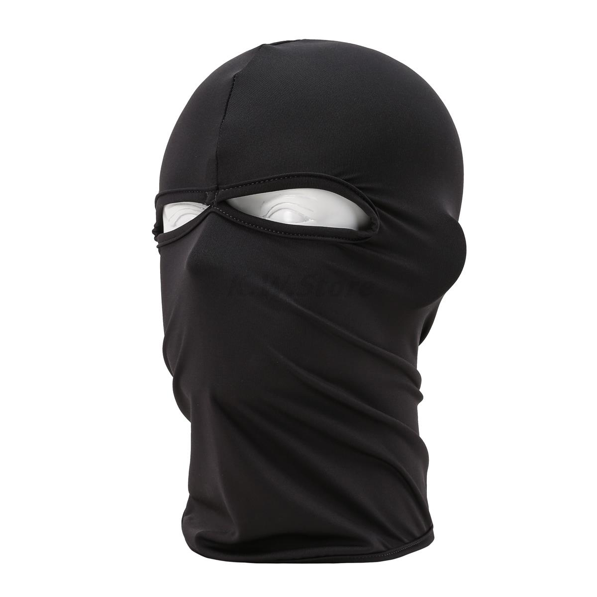 New Motorcycle Bike Hunting Cycling Cap Headwear 2 Hole Full Face Mask Balaclava Hat Military Tactical