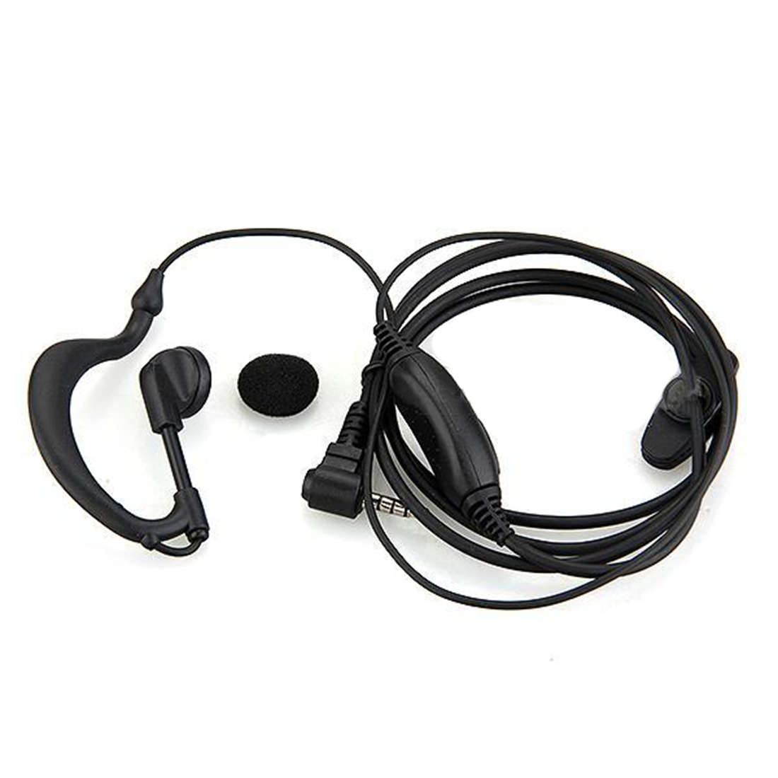 2015 Wholesale In-ear Imitated hook Headset Earphone Headphones for Walkie Talkie Radio Black new(China (Mainland))