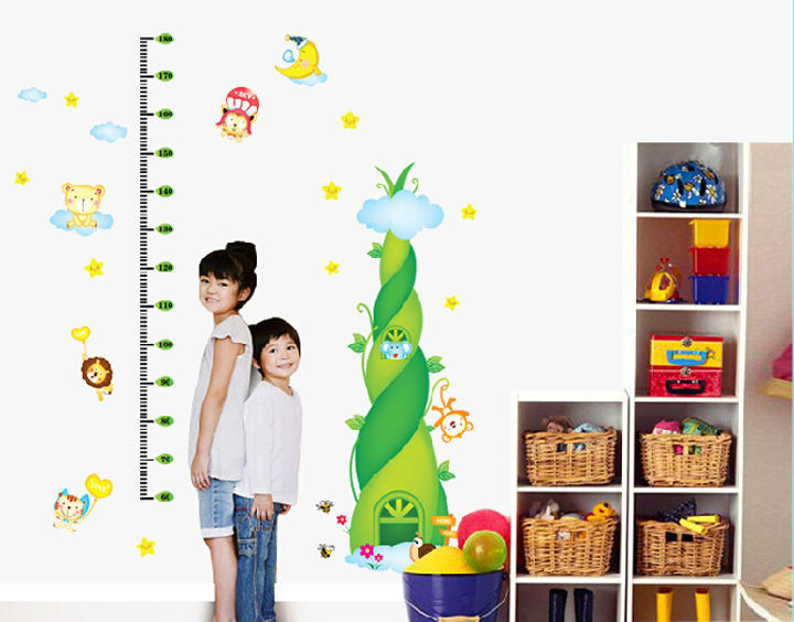 Children cartoon meansure heigh wall sticker for lkids room