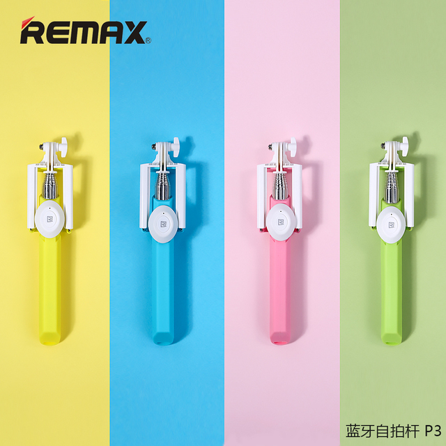 REMAX P3 Wireless Bluetooth Selfie Stick with Bluetooth Button Extendable Monopod Stick Holder for iPhone Samsung Smartphone